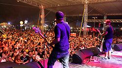 Raimundos no palco Pretinho Convida do Planeta Atlântida 2013/RS, que acontece nos dias 15 e 16 de fevereiro na SABA, em Atlântida. FOTO: Marcos Nagelstein/Preview.com