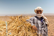 M'HAMID EL GHIZLANE, MOROCCO - 26th April 2014 - Portrait of a nomad, M'Hamid el Ghizlane, Erg Chigaga region of the fringes of the Sahara Desert in Southern Morocco