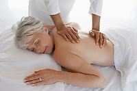 Woman Receiving a Massage half length