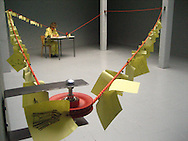 Memo, installation and performance, Studio DVO, Brussels, Belgium, 2007.