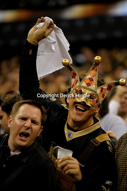 2009 November 30:  New Orleans Saints fans in the stands during a 38-17 win by the New Orleans Saints over the New England Patriots at the Louisiana Superdome in New Orleans, Louisiana.