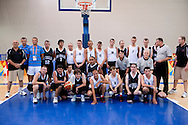 Male's basketball match between SO Poland and SO New Zealand while basketball tournament during 2011 Special Olympics World Summer Games Athens on June 27, 2011..The idea of Special Olympics is that, with appropriate motivation and guidance, each person with intellectual disabilities can train, enjoy and benefit from participation in individual and team competitions...Greece, Athens, June 27, 2011...Picture also available in RAW (NEF) or TIFF format on special request...For editorial use only. Any commercial or promotional use requires permission...Mandatory credit: Photo by © Adam Nurkiewicz / Mediasport