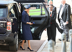 Duke and Duchess of Sussex, Prince Harry and Meghan Markle arrive ahead of the wedding of Princess Eugenie to Jack Brooksbank at St George's Chapel in Windsor Castle. 12 Oct 2018 Pictured: Duke and Duchess of Sussex, Prince Harry and Meghan Markle arrive ahead of the wedding of Princess Eugenie to Jack Brooksbank at St George's Chapel in Windsor Castle. Photo credit: WPA POOL/MEGA TheMegaAgency.com +1 888 505 6342