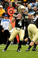 November 3, 2012:  University of Colorado Buffalos quarterback Jordan Webb (4) looks to pass during the NCAA Football game between the Stanford Cardinal and the University of Colorado Buffalos at Folsom Field in Boulder, CO