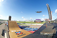 Morgan Wade during BMX Big Air Practice at 2014 X Games Austin in Austin, TX.    ©Brett Wilhelm/ESPN