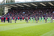 Two minutes silence during the EFL Sky Bet League 2 match between Lincoln City and Forest Green Rovers at Sincil Bank, Lincoln, United Kingdom on 3 November 2018.