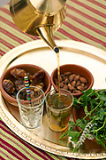 Moroccan mint tea at Scorpion House, Moulay Idriss Zerhoun, Middle Atlas, Morocco