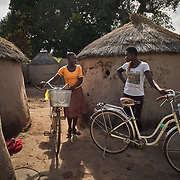 30/10/2019 Tambalug / Ghana: <br /> Rose and Myma, her neighbour, catch up. They normally meet by the solar powered water pump.<br /> <br /> For the past five years, Oxfam has been absent in Kpatia and Tambalug (2 communities in Garu Tempane District of the Upper East Region of Ghana).  This project is a visual documentary study on the impact of climate change on these farming communities, in the absence of fresh aid.