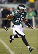 Philadelphia Eagles free safety Earl Wolff (28) chases the action during the NFL NFC Wild Card football game against the New Orleans Saints on Saturday, Jan. 4, 2014 in Philadelphia. The Saints won the game 26-24. ©Paul Anthony Spinelli
