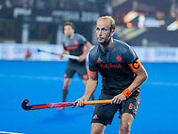 BHUBANESWAR, INDIA - Billy Bakker (Ned)   tijdens de  finale tussen België en Nederland bij het WK Hockey heren in het Kalinga Stadion. COPYRIGHT KOEN SUYK
