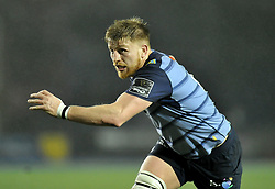 Cardiff Blues' Macauley Cook<br /> <br /> Photographer Mike Jones/Replay Images<br /> <br /> Guinness PRO14 Round 14 - Cardiff Blues v Cheetahs - Saturday 10th February 2018 - Cardiff Arms Park - Cardiff<br /> <br /> World Copyright © Replay Images . All rights reserved. info@replayimages.co.uk - http://replayimages.co.uk