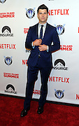 Colin Jost poses on the red carpet at the premiere of the movie Staten Island Summer at Sunshine Cinema, Tuesday, July 21, 2015, in New York.  The new comedy debuts on Netflix on July 30, 2015 and is available for Digital download. (Photo by Diane Bondareff/Invision for Paramount Pictures/AP Images)