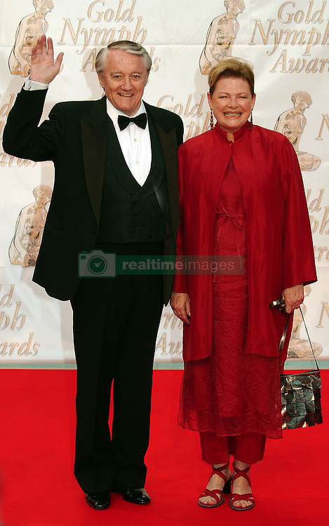 Robert Vaughn and his wife attend the 44th Monte-Carlo TV Festival at Grimaldi Forum in Monaco on July 03, 2004. Photo by Giancarlo Gorassini/ABACA.