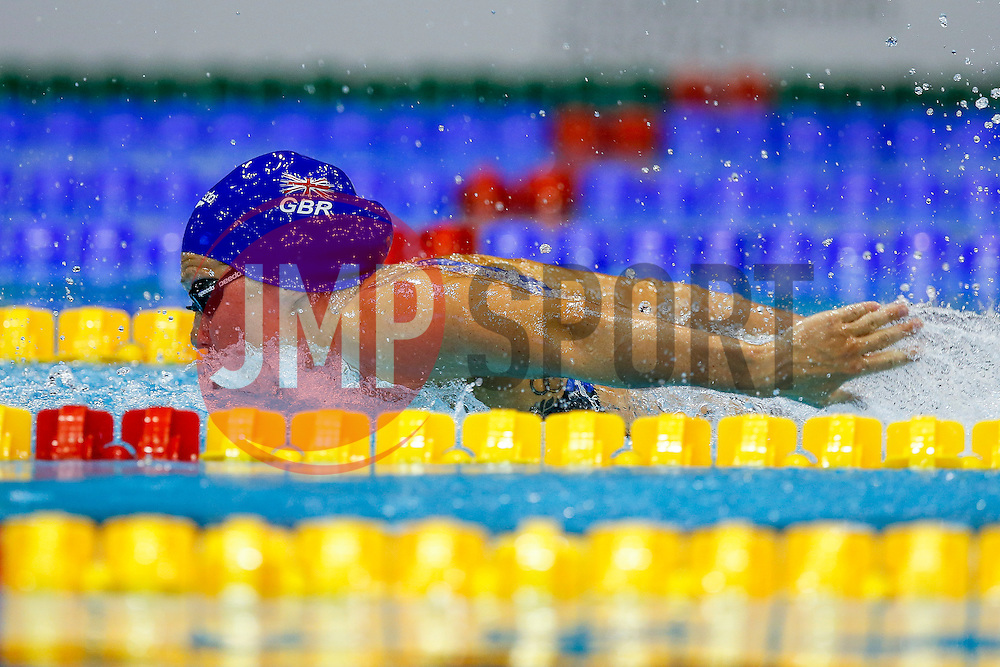 Jemma Lowe swims the Butterfly leg of Great Britains Mixed 4x100 Relay final on the way to a Gold Medal - Photo mandatory by-line: Rogan Thomson/JMP - 07966 386802 - 19/08/2014 - SPORT - SWIMMING - Berlin, Germany - Velodrom im Europa-Sportpark - 32nd LEN European Swimming Championships 2014 - Day 7.