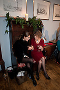 FANNY KARST; SALLY GROVES, , ,  Launch of a new book series by Notting Hill Editions. The Idler Academy. Wetbourne Park Rd. London. 14 December 20911.