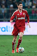 Wisla's Richard Guzmics controls the ball during T-Mobile ExtraLeague soccer match between Legia Warsaw and Wisla Krakow in Warsaw, Poland.<br /> <br /> Poland, Warsaw, March 15, 2015<br /> <br /> Picture also available in RAW (NEF) or TIFF format on special request.<br /> <br /> For editorial use only. Any commercial or promotional use requires permission.<br /> <br /> Mandatory credit:<br /> Photo by © Adam Nurkiewicz / Mediasport
