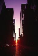 Image of downtown Manhattan at sunrise, New York City, New York, east coast