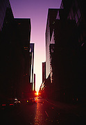 Image of downtown Manhattan at sunrise, New York City, New York, east coast