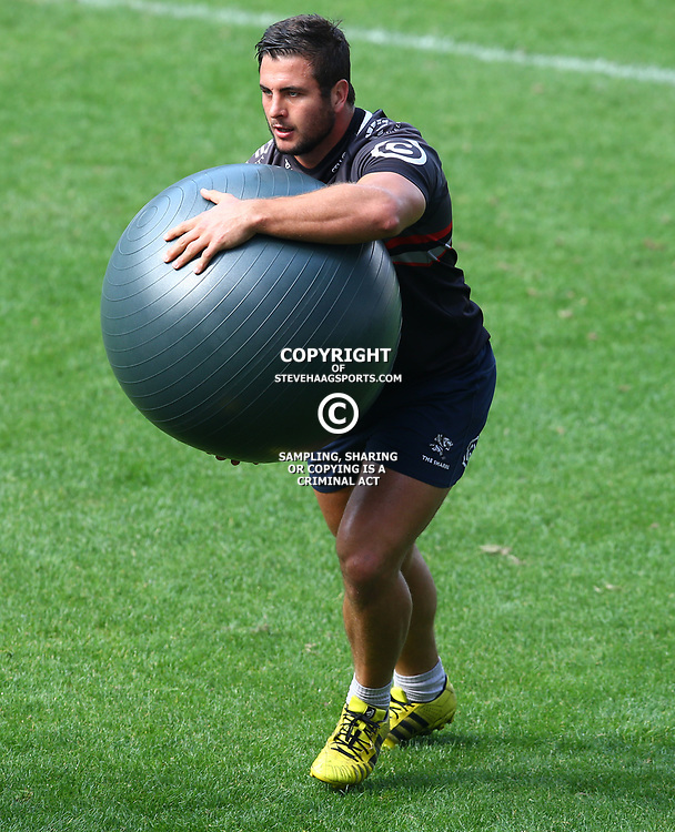 Juan Schoeman during The Cell C Sharks captain's run at Growthpoint Kings Park in Durban, South Africa. 3rd August 2017(Photo by Steve Haag)<br /> <br /> images for social media must have consent from Steve Haag