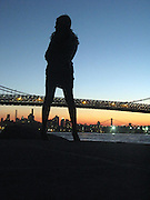 A Woman at Dusk in Brooklyn