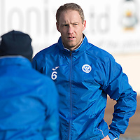 St Johnstone Training…27.01.17<br />Steven Anderson training at a very cold McDiarmid Park this monring ahead of tomorrows game against Hamilton Accies<br />Picture by Graeme Hart.<br />Copyright Perthshire Picture Agency<br />Tel: 01738 623350  Mobile: 07990 594431