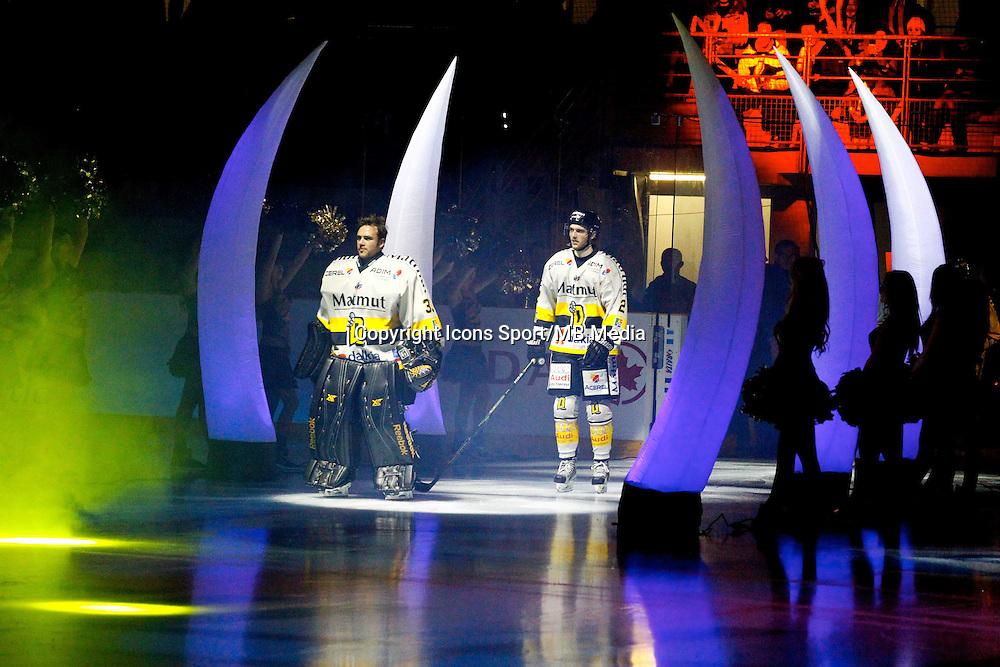 Entree des joueurs / Fabrice Lhenry - 25.01.2015 - Rouen / Amiens - Finale Coupe de France 2015 de Hockey sur glace<br /> Photo : Xavier Laine / Icon Sport