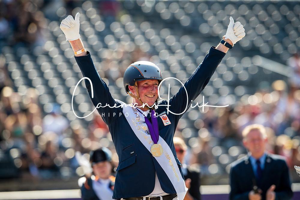 Podium Freestyle, Grade V, Gold medal, Hosmar Frank, NED<br /> European Championship Dressage<br /> Rotterdam 2019<br /> © Hippo Foto - Dirk Caremans
