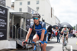 Elise Maes (LUX) of Team WNT rides back to the team bus after Stage 3 of the OVO Energy Women's Tour - a 151 km road race, between Atherstone and Royal Leamington Spa on June 9, 2017, in Warwickshire, United Kingdom. (Photo by Balint Hamvas/Velofocus.com)