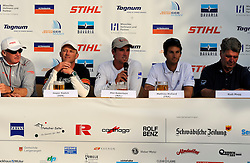 Phil Robertson at the skippers press conference after day 5. Photo: Chris Davies/WMRT