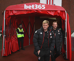Bournemouth manager Eddie Howe inspects the pitch before the match - Mandatory by-line: Jack Phillips/JMP - 19/11/2016 - FOOTBALL - Bet365 Stadium - Stoke-on-Trent, England - Stoke City v Bournemouth - Premier League