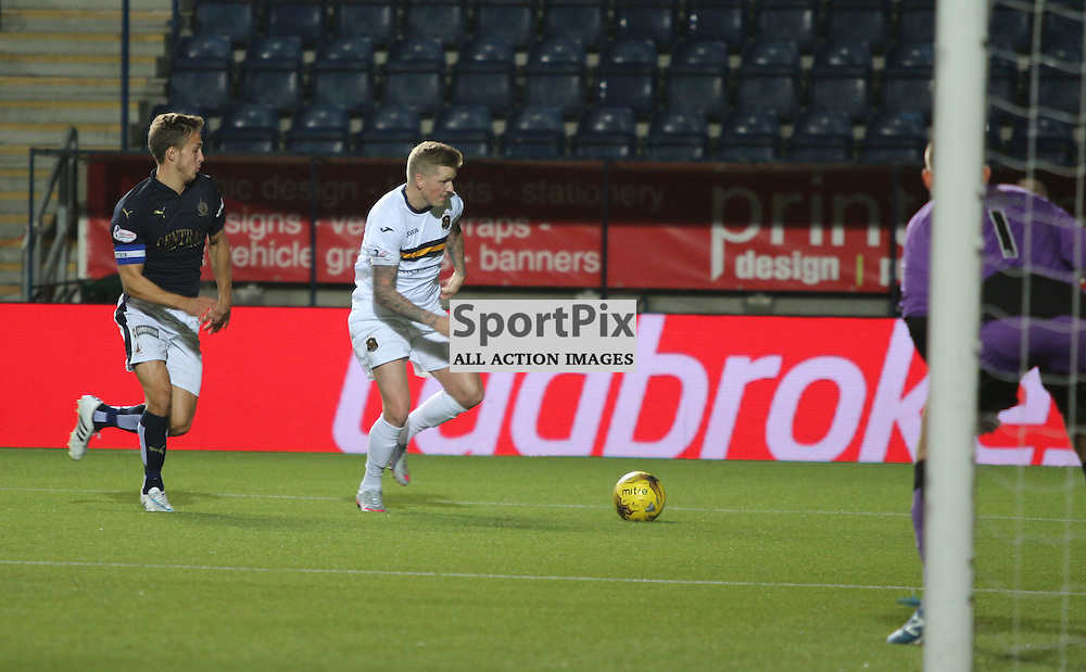 Dumbartons Willie Gibson breaks into the box during the Falkirk FC v Dumbarton FC  Scottish Championship 28th August 2015 <br /> <br /> (c) Andy Scott   SportPix.org.uk