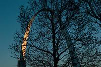 Last Light on Gateway Arch, Saint Louis, Missouri