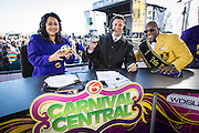 Zulu Fest Lundi Gras celebration at Woldenberg Park for WDSU-TV