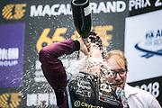 Joel ERIKSSON,  SWE, Motopark Academy Dallara-Volkswagen <br /> <br /> 65th Macau Grand Prix. 14-18.11.2018.<br /> Suncity Group Formula 3 Macau Grand Prix - FIA F3 World Cup<br /> Macau Copyright Free Image for editorial use only