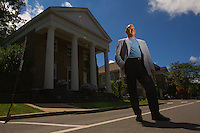 Jeff Katz, Mayor of Cooperstown, New York, home of the Major League Baseball Hall of Fame.<br /> <br /> (Photo by Robert Caplin)