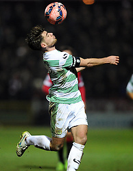Yeovil Town's Joe Edwards controls the ball  - Photo mandatory by-line: Joe meredith/JMP - Mobile: 07966 386802 - 04/01/2015 - SPORT - football - Yeovil - Huish Park - Yeovil Town v Manchester United - FA Cup - Third Round