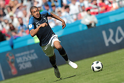 June 16, 2018 - Kazan, Kazan, France - forward Kylian Mbappe of France National team during a  Group C 2018 FIFA World Cup soccer match between France and Australia on June 16, 2018, at the Kazan Arena in Kazan, Russia. (Credit Image: © Anatolij Medved/NurPhoto via ZUMA Press)