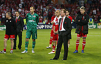 Photo: Chris Ratcliffe.<br /> Middlesbrough v Sevilla. UEFA Cup Final. 10/05/2006.<br /> Boro boss Steve McLaren and his side are gutted.