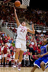 December 15, 2009; Stanford, CA, USA;  Stanford Cardinal guard Jeanette Pohlen (23) shoots past Duke Blue Devils guard/forward Keturah Jackson (31) during the second half at Maples Pavilion.  Stanford defeated Duke 71-55.