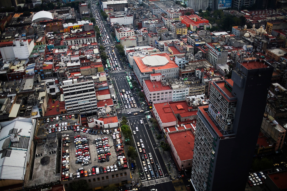 A view of downtown Mexico City.