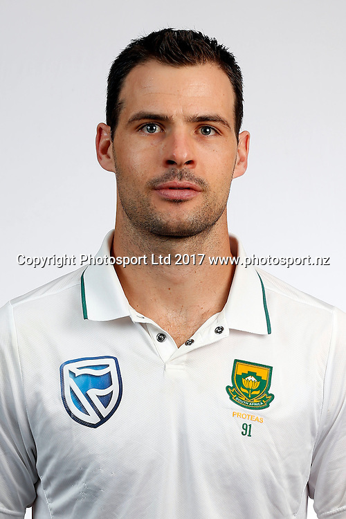 Stephen Cook, South Africa Cricket Test Team Headshots, Pullman Hotel, Auckland. 3 March 2017. Copyright Image: William Booth / www.photosport.nz
