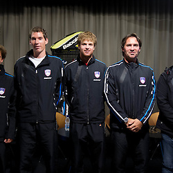 20120328: SLO, Tennis - Slovenian team for Davis Cup tournament against South Africa