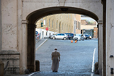 Lonely Pope Francis in the streets of Vatican City - 22 Nov 2018