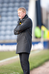 Falkirk's manager Gary Holt.<br /> Raith Rovers 2 v 4 Falkirk, Scottish Championship game today at Starks Park.<br /> &copy; Michael Schofield.