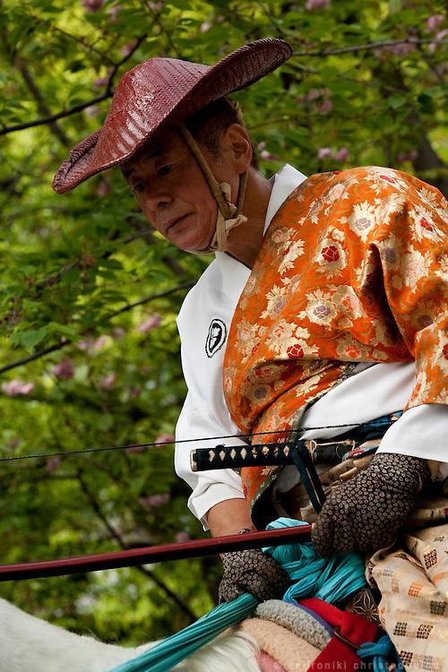 Yabusame archer during the Yabusame ritual in Asakusa