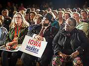 03 MAY 2019 - AMES, IOWA: People at Iowa State University in Ames listen to Sen. Elizabeth Warren during a campaign appearance. About 400 people attended the event. Sen. Warren is campaigning in Iowa Friday and Saturday to promote her bid to be the Democratic candidate for the US Presidency. Iowa traditionally hosts the the first selection event of the presidential election cycle. The Iowa Caucuses will be on Feb. 3, 2020.              PHOTO BY JACK KURTZ