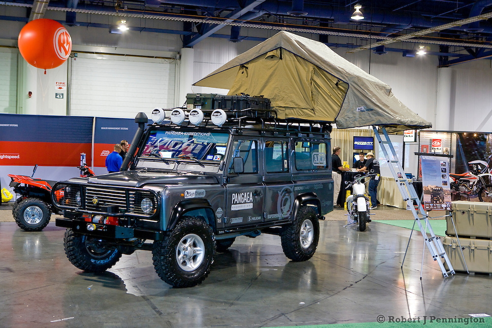 Land Rover 110 Defender, low enviromental impact expedition vehicle. SEMA 2009 in Las Vegas Nevada.
