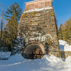 The Tahawus Blast Furnace became operational in 1854 and produced iron (though only for two years) from iron ore mined locally in New York's Adirondack Mountains. Newcomb, New York.