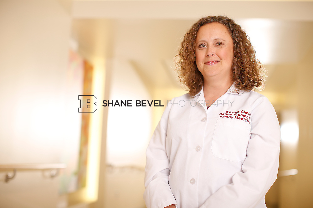 5/28/15 4:25:43 PM -- Dr. Renee Frenier of Saint Francis Health System poses for a portrait for the 2015 Advertising Campaign. <br /> <br /> Photo by Shane Bevel