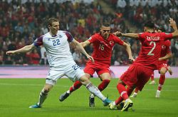 November 15, 2019: Iceland's Jon Dadi Bodvarsson during the Euro 2020 group H qualifying soccer match between Turkey and Iceland at Turk Telekom Stadium in Istanbul, Turkey, Wednesday November 14, 2019. (Credit Image: © Tolga Adanali/Depo Photos via ZUMA Wire)